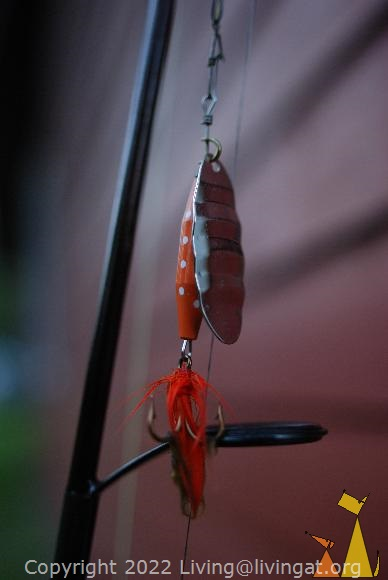 ABU Reflex, Åland, Finland, ABU, spinnerbait, orange, fishing, lure, Reflex
