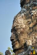 Banteay Kdey, Banteay Kdey, Angkor, Cambodia, female, temple, stone face, face