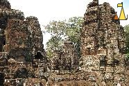 Bayon in the Afternoon, Bayon, Angkor, Cambodia, temple, faces, stone