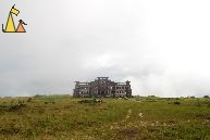 Bokor Palace Hotel and Casion, Bokor Hill Station, Kampot, Cambodia, ruin, casino, fog