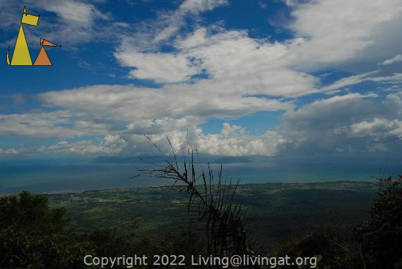 Bokor view, Bokor Hill Station, Kampot, Cambodia, fog, view, blue ocean