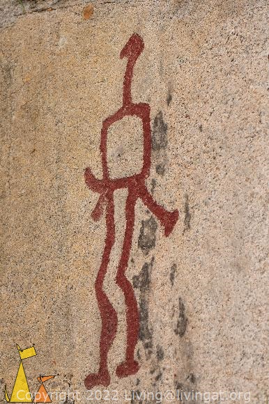 Broze Age Hunter, Tanum, Sweden, Petroglyph, Unesco, World Heritage Site, nude male