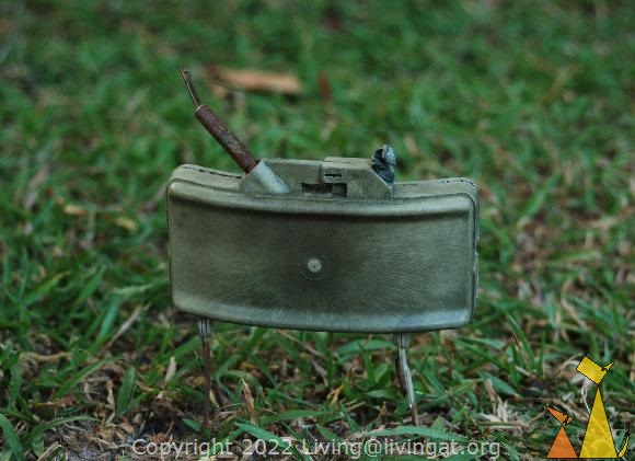 Claymore on Grass, War Museum, Siem Reap, Cambodia, landmine, MON-50, Claymore, anti-personel