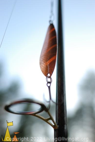 Copper spoon, Åland, Mariehamn, fishing, lure, spoon, copper