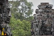 Faces at Bayone, Bayone, Angkor, Cambodia, faces, female, stone face, temple