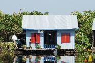 Floating House, Battambang, Cambodia, house, floating, river