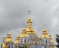Golden cupolas churce, Kiev, Ukraine, church, building, St Michael, golden cupolas