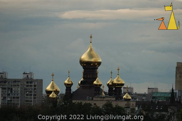 Golden domes, Kiev, Ukraine, golden domes, skyline