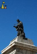 Half-moon halo, Madrid Spain, statue, priest, saint, John of Avila, San Juan de Avila, half-moon, halo