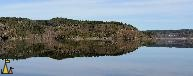 Lake Mirror Panorama, Landet, Sweden, mirror, lake, reflection, panorama