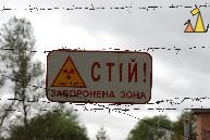 Radioactivity sign, Chernobyl, Ukraine, nuclear, radioactivity, sign, warning