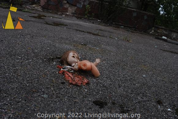 Staged doll, Pripyat, Ukraine, doll, staged