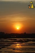 Sunset over Boeng Kak, Boeng Kak, Phnom Penh, Cambodia, Sunset, lake