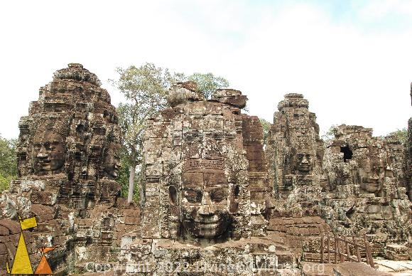Surrounded by Female Faces, Bayon, Angkor, Cambodia, temple, faces, stone, female