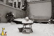 Table and pots, Skeppargatan, Stockholm, Sweden, skeppargatan 11, stilleben, Still life, black and white, sepia