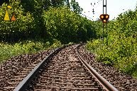 Turning tracks, Landet, Sweden, railroad, turn, tracks, lights