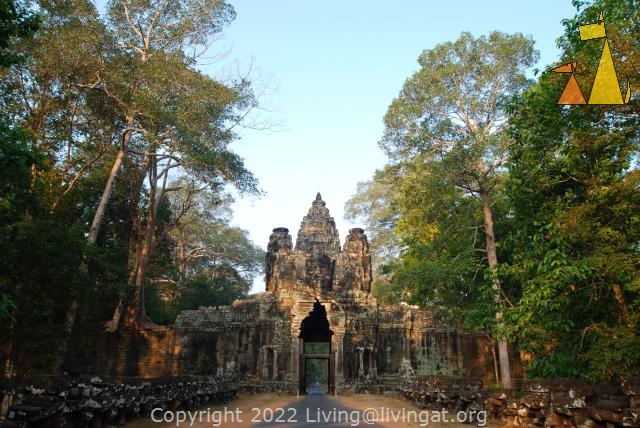 Victory gate, Victory gate, Angkor, Siem Reap, Cambodia, entrance, ruin, temple
